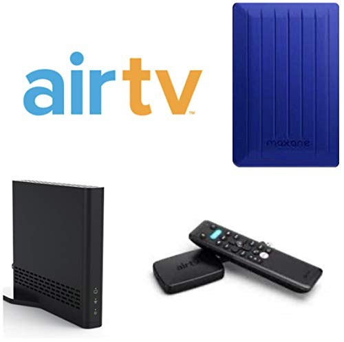 AirTV MINI With AirTV Dual Tuner Classic Streamer for Local Channels | 80 GB External Hard Drive and 25 Dollar Sling TV Credit