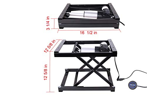 Super 17 Electric Hydraulic Manual Control Dining Table Coffee Table Lift Black 110V 240V Working Platform Computer Desk Electronic Scissor Lift Theyellowbook Wood Chair Design Ideas Theyellowbookinfo