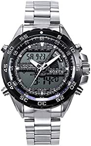 North wristwatch Casual process for Men Stans Steel