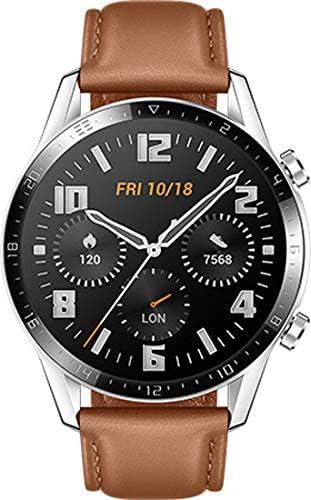 ساعة هواوي GT2 الذكية 46 ملم، سوار جلد، بني