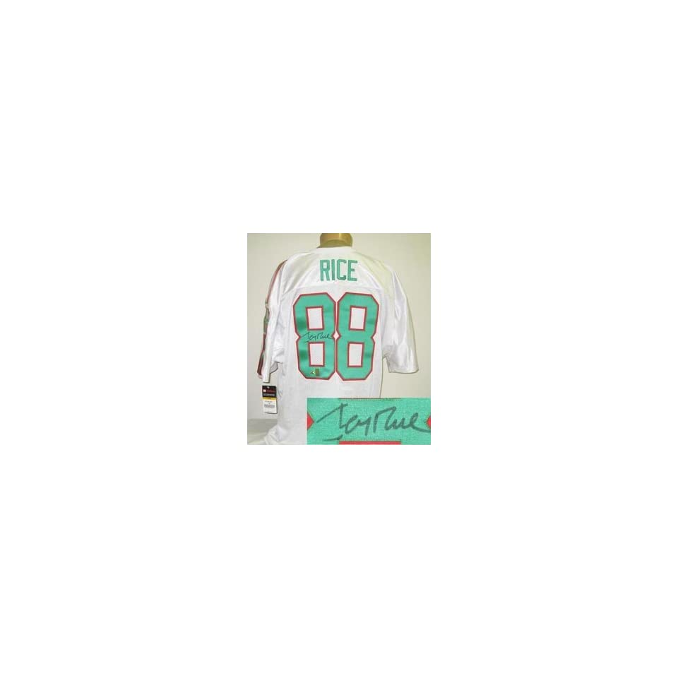 Jerry Rice Signed Mississippi Valley State Wilson Jersey