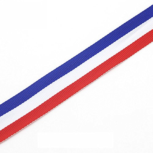 Red White and Blue Grosgrain Ribbon 1-1/2