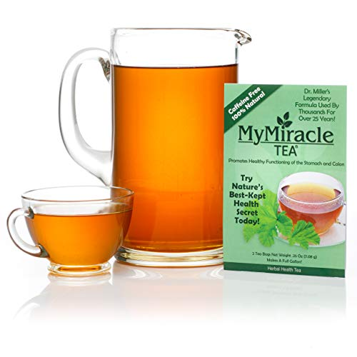 My Miracle Tea - Colon Cleanse, Constipation Relief, and All-Natural Detox Tea - 1 Week Supply (Makes 1 Gallon - Teabags)