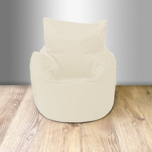 Ready Steady Bed Childrens 100% Cotton Twill Pre-Filled Bean Chair, Stone