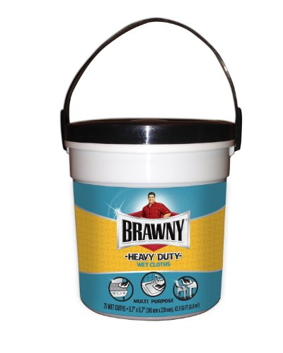 Brawny® Heavy Duty Wet Cloths Canister, Fresh Scent, 75 Count Wipes