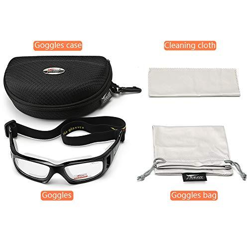 Black Panlees Goggles Sports Glasses Adjustable Elastic Wrap Eyewear for Soccer Basketball Tennis Lover