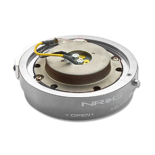 - NRG Innovations, SRK-400SL, 6 Hole Steering Wheel Silver Thin Slim Quick Release Hub Adapter SRK-400SL