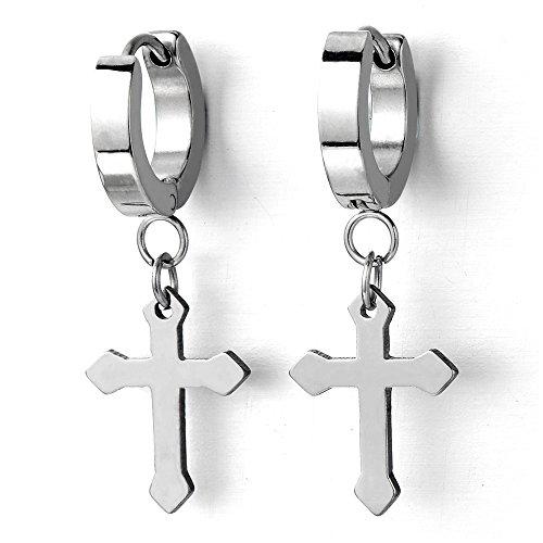 Huggie Hinged Earrings Cross Unisex product image