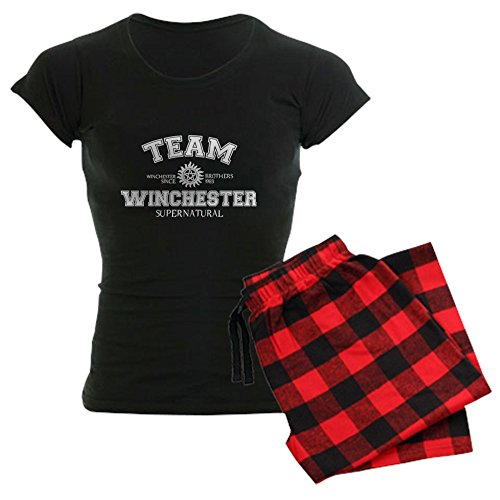 CafePress - Team Winchester Supernatural - Womens Novelty Cotton Pajama Set, Comfortable PJ Sleepwear - Supernatural Womens Pajamas
