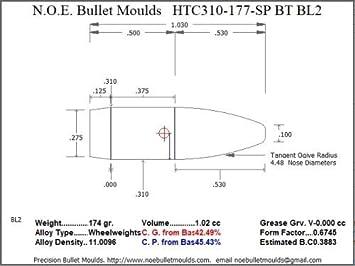 Amazon Com Bullet Mold 3 Cavity Aluminum 310 Caliber Boat Tail
