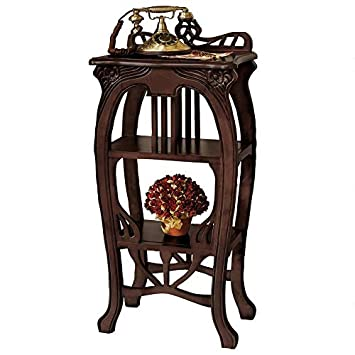 Amazon.com: Design Toscano Art Nouveau Arpa mesa auxiliar ...