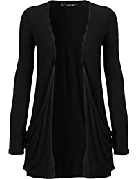 WearAll Women's Long Sleeve Pocket Cardigan