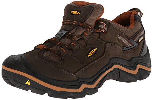 KEEN Men's Durand Low Waterproof Hiking Shoe,Cascade Brown/Glazed Ginger,7 M US