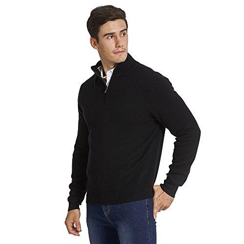 Zip Front Mock Neck Sweater - 2