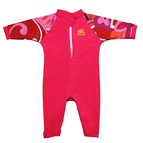 Fiji Sun Protective UPF 50+ Baby Swimsuit by Nozone in Lipstick/Brandie, 6-12 months