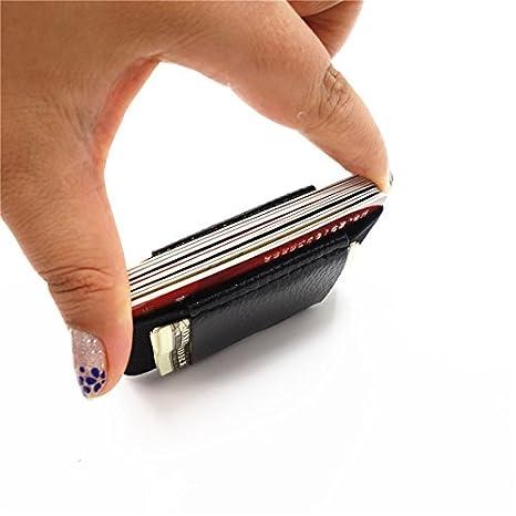 Amazon.com: Tarjeta Monederos Caso Mens Money Clip de piel ...