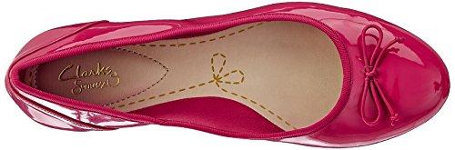 Clarks Couture Bloei Damen Ballerina Fuchsia Patent
