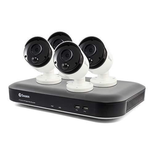 Swann SWDVK-855804-US 5580 Series 4K DVR with 4 X Pro-4Kmsb True Detect Cameras 8x4 Surveillance System, White