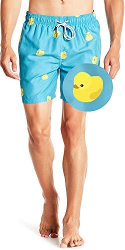 Visive Mens Swim Trunks Board Shorts Swimwear for Men Swimsuits Rubber Duck 2XL ()