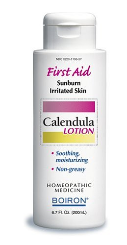 Boiron Homeopathic Medicine Calendula First Aid Lotion for Sunburn and Irritated Skin, 6.7-Ounce Bottles (Pack of 2)