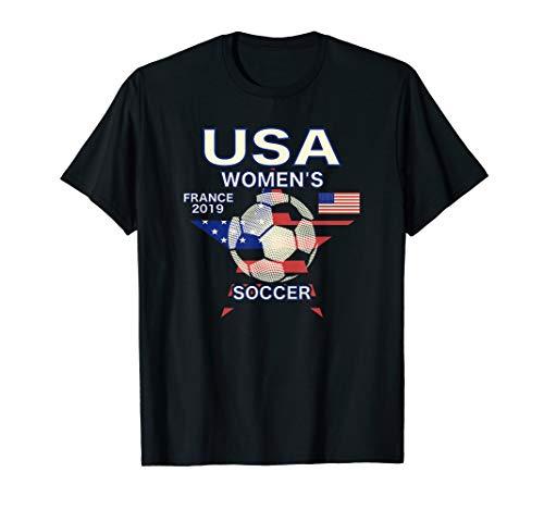 (Women Soccer Shirt USA Flag)