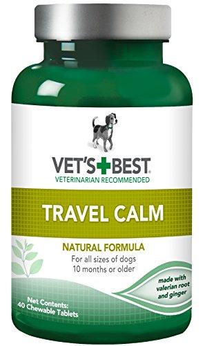 Vet's Best Travel Calm Dog Supplements, 40 Chewable Tablets