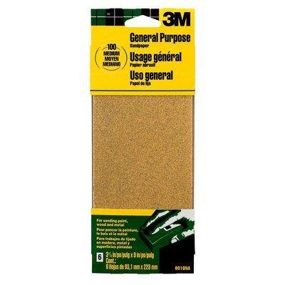 3M 9016NA 9'' Medium Paint, Wood, Metal Sandpaper Third Sheets by 3M (Image #1)