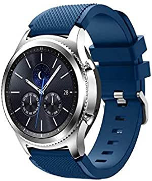 Gear S3 Frontier/Classic Watch Band Soft Silicone Man Watch Replacement Bracelet Strap for Samsung Gear S3