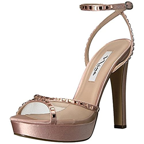 Nina Women's Myrna Dress Sandal, YM-Blush/Champagne, 7.5 M US (Shoe Shimmer Prom Ladies Evening)