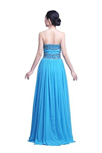 YiYaDawn - Vestido - trapecio - para mujer Azul