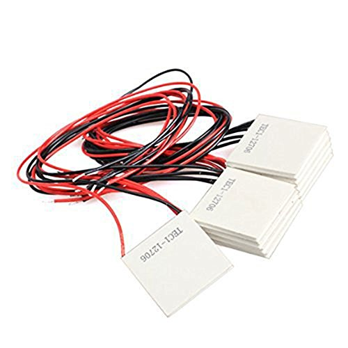 10Pcs TEC1-12706 40*40MM 12V 60W Heatsink Thermoelectric Cooler Cooling Peltier Plate Module by diymore (Image #2)