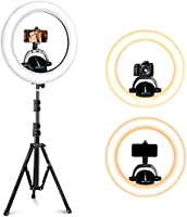"""UBeesize Ring Light Kit: 17.5"""" Outer Led Ring Light with Wireless Control, Professional Bi-Color 3000K-6000K Circle..."""