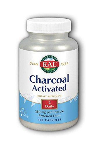 KAL Charcoal, 280 mg, 100 Capsules