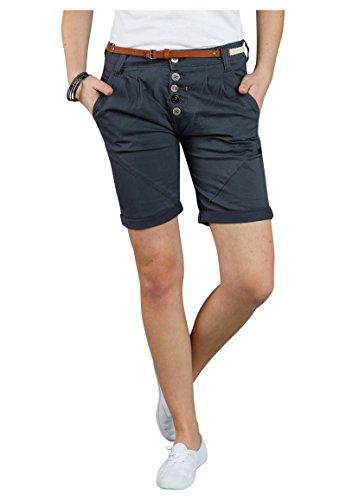 Sublevel Damen Chino Bermuda Shorts mit Knopfleiste