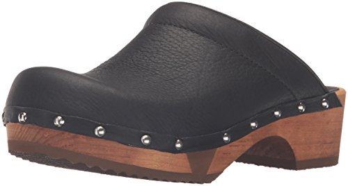 Sanita Womens Wood-Yanini Basic Flex Open Mule Black