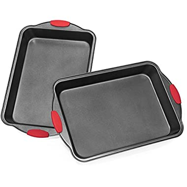 Elite Bakeware™ Extra Large All Purpose Baking Pans (2 Pack) with Ultra Nonstick Coating and Sure Grip Handles - Premium Baking Pans - Cake Pans - Roasting Pan (Quantity of 2)