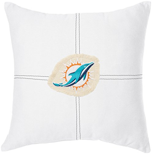 The Northwest Company Officially Licensed NFL Miami Dolphins Letterman Pillow, 18