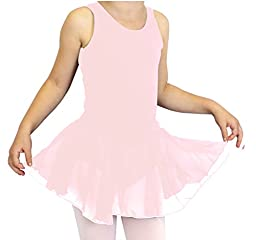 Basic Moves Little Girls Tank X-Back Leotard with Attached Skirt