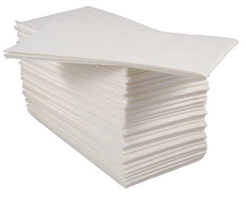BloominGoods Disposable Cloth-Feel Tissue Paper, Hand Napkins/Linen-Feel Guest Towels, White, Pack of ()