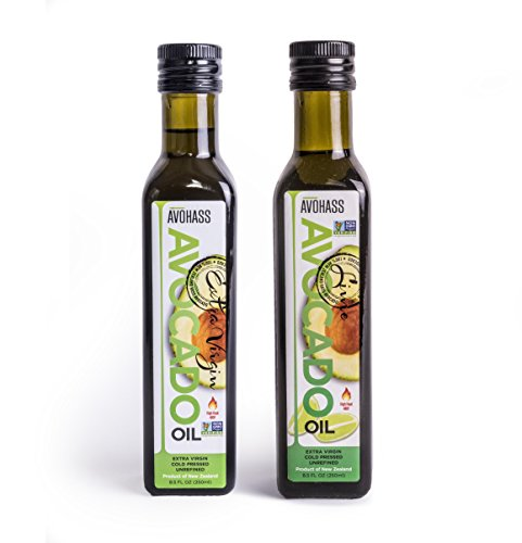 Avohass New Zealand Extra Virgin Avocado Oil and Avohass New Zealand Lime Extra Virgin Avocado Oil (Extra Virgin, Lime Infused, 2 Pack)