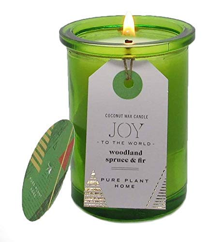 Holday Aromatherapy Candles (Spruce & Fir, 5.5 ounce recycled glass) ()