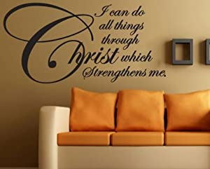 I can do all things through christ which strengthens me for Christian wall mural