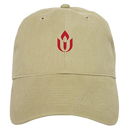 CafePress UU Red Flame Logo Baseball Baseball Cap with Adjustable Closure, Unique Printed Baseball Hat