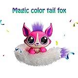 Patches Plush Interactive Toys,KOBWA Wrist Pet Toys,Furry Doll W/Rainbow Light Up Slap Tail,Talking