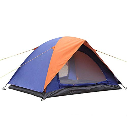 ファッションジェム忠実なYOGOGO アウトドア テント 2人用 ツーリングテント 二層構造 高通気性 防雨?防風?防災 折りたたみ 簡易テント 紫外線カット 200 * 150 * 110CM