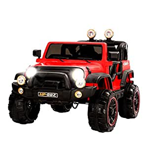 Uenjoy Ride on Cars 12V Children's Electric Cars Motorized Cars for Kids with Remote Control, 3 Speeds, Head Lights, Model HP-002, Red