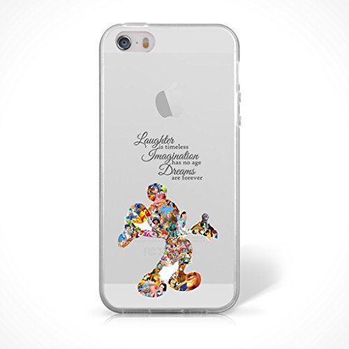 Walt Disney Case - iPhone 5/5s Fan Art Silicone Phone Case / Gel Cover for Apple iPhone 5s 5 SE / Screen Protector & Cloth / iCHOOSE / Disney Quote