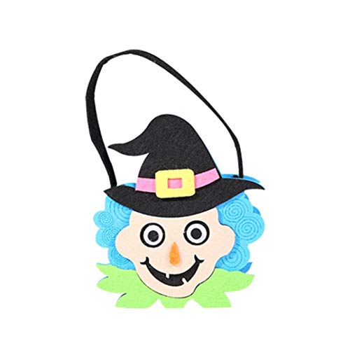 Exteren Halloween Cute Witches Candy Bag Packaging Children Party Storage Bag Gift Package Box (B)