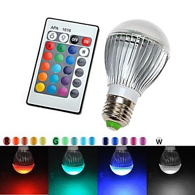E27 110V 16 Colors Changing 9W magic RGB LED Lamp Light Bulb + IR Remote Control , Multi Color