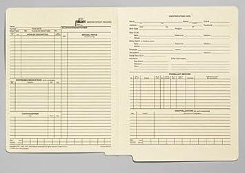 amazon com briggs health care milcom medical record jacket ob gyn